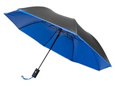 Зонт складной двухсторонний автомат Avenue Spark, черный / синий фото