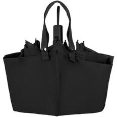 Зонт-сумка складной механический, 3 сложения, Molti Stash, чёрный фото