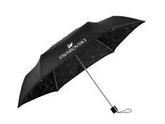 Зонт складной механический женский Swarovski, черный фото