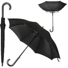 Зонт трость антишторм полуавтомат Anti Wind, черный фото