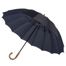 Зонт трость механический Bugatti Big Boss, 16 спиц, темно-синий фото