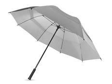 Зонт трость двойной купол механический Slazenger Cardiff, серый фото