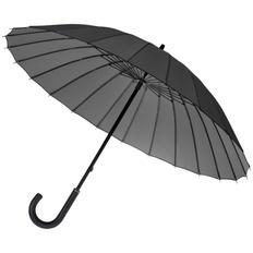 Зонт трость механический Matteo Tantini Ella, 24 спицы, серый фото