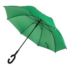 Зонт трость полуавтомат Halrum, С-образная ручка soft souch, зеленый фото