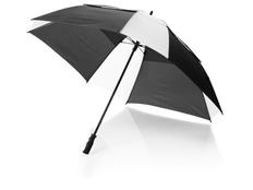 Зонт трость квадратный купол сегментами механический Helen, черный / белый фото