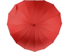 Зонт трость в форме сердца механический Люблю, красный фото