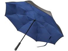 Зонт трость наоборот полуавтомат Marksman Lima, черный / синий фото