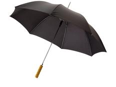 Зонт трость полуавтомат Lisa, черный фото