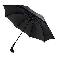 Зонт трость полуавтомат с ручкой-держателем для стакана Liverpool, черный фото