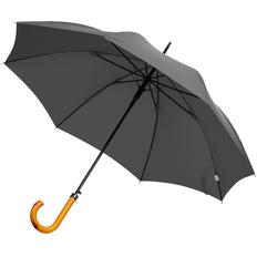 Зонт трость полуавтомат Fare LockWood, серый фото