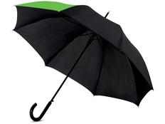 Зонт трость полуавтомат Lucy, черный / зеленый фото