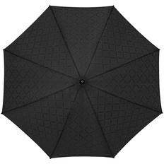 Зонт трость с проявляющимся рисунком в клетку полуавтомат Magic, черный фото