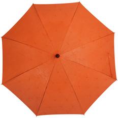 Зонт трость с проявляющимся рисунком цветочным полуавтомат Magic, оранжевый фото