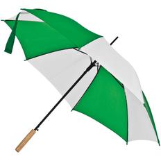Зонт-трость Milkshake, белый / зеленый фото