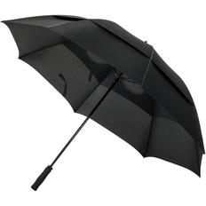 Зонт трость для гольфа двойной купол механический Indivo oldCourse, черный фото
