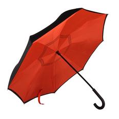 Зонт трость наоборот механический Original, красный / черный фото