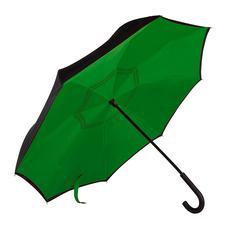 Зонт трость наоборот механический Original, зеленый / черный фото