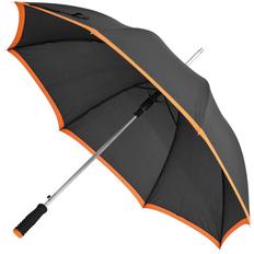 Зонт-трость полуавтомат Highlight, черный / оранжевый фото
