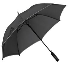 Зонт-трость полуавтомат Jenna, черный / серый фото