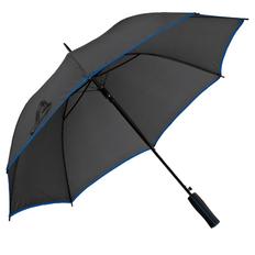 Зонт-трость полуавтомат Jenna, черный / синий фото