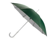 Зонт трость двухсторонний полуавтомат Майорка, зеленый / серый фото