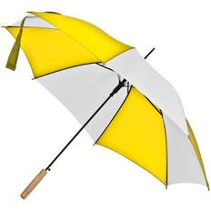Зонт-трость полуавтомат Milkshake, белый / желтый фото