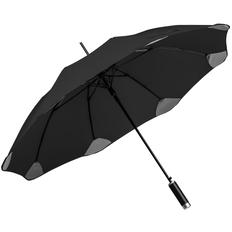 Зонт-трость полуавтомат Pulla, черный фото