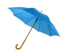 Зонт-трость полуавтомат Радуга, голубой фото