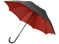 Зонт трость двухсторонний полуавтомат Гламур, черный / красный фото