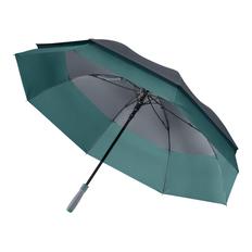 Зонт трость двойной купол полуавтомат Portobello Bora, серый/ морская волна фото