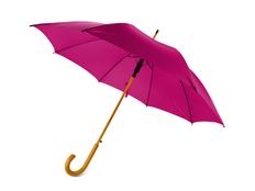 Зонт трость полуавтомат Радуга, фуксия фото