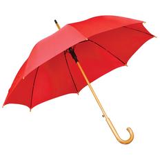 Зонт трость полуавтомат, красный фото