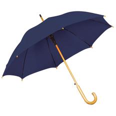 Зонт трость полуавтомат, темно-синий фото