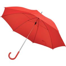 Зонт трость механический, красный фото