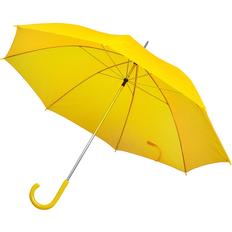 Зонт трость механический, желтый фото