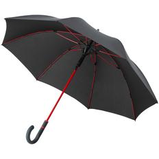 Зонт-трость с цветными спицами Fare Color Style ver.2, черный/ красный фото