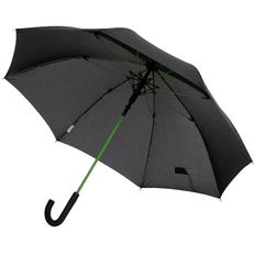 Зонт трость с цветными спицами автомат Colour Power, черный /зеленое яблоко фото