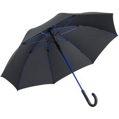 Зонт-трость с цветными спицами Fare Color Style ver.2, ярко-синий/ черный фото