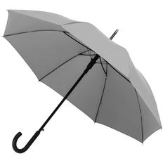 Зонт-трость со светоотражающим куполом Molti Manifest, серый фото