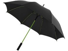 Зонт трость с цветными спицами полуавтомат Avenue Spark, черный / зеленое яблоко фото