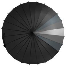 Зонт трость механический Спектр, серый / черный фото
