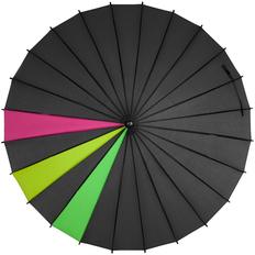 Зонт трость «Спектр», разноцветный черный неон фото