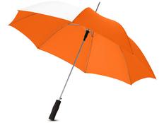 Зонт трость полуавтомат Tonya, белый / оранжевый фото