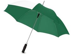 Зонт трость полуавтомат Tonya, белый / зеленый фото