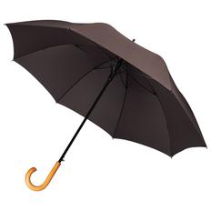 Зонт трость полуавтомат Unit Classic, коричневый фото