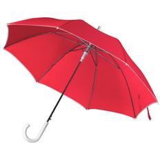 Зонт трость полуавтомат Unit Color, красный / белый фото