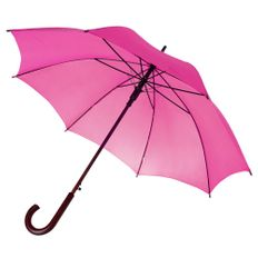 Зонт трость полуавтомат Unit Standard, ярко-розовый фото