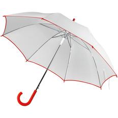 Зонт трость полуавтомат Unit White, белый / красный фото