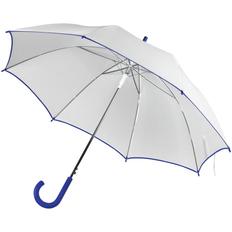 Зонт трость полуавтомат Unit White, белый / синий фото