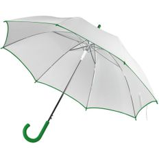 Зонт трость полуавтомат Unit White, белый / зеленый фото
